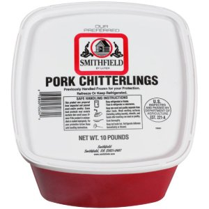 bucket of chitterlings